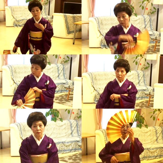 日本舞踊披露
