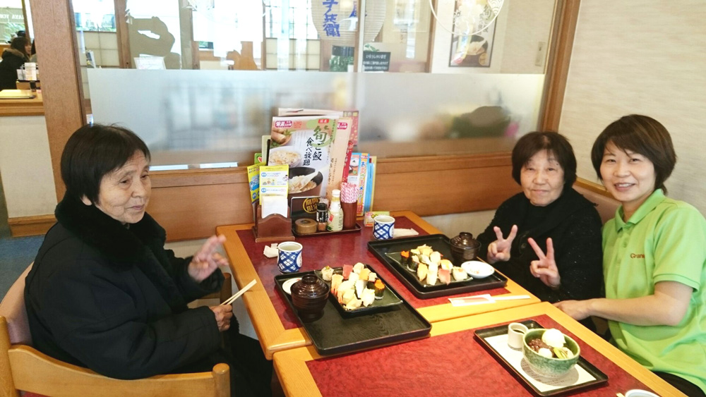お寿司でお誕生日祝い